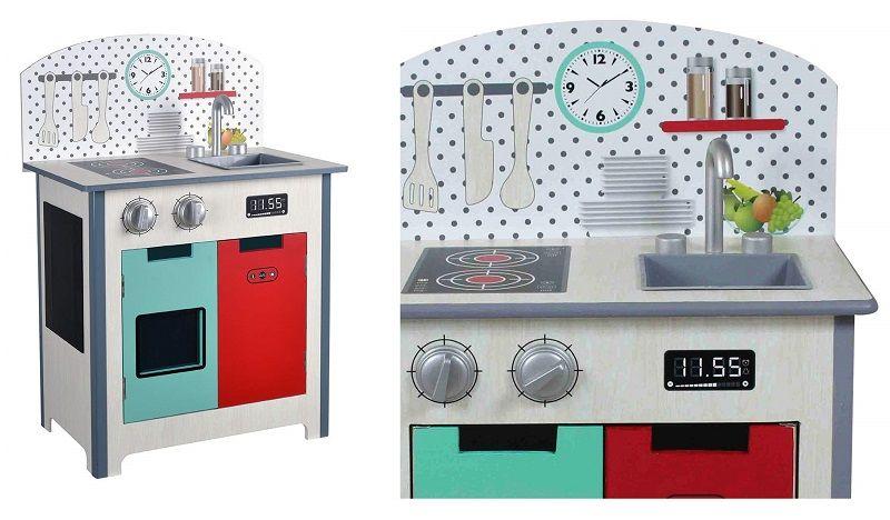 colorbaby cocina madera fashion retro para niña niño