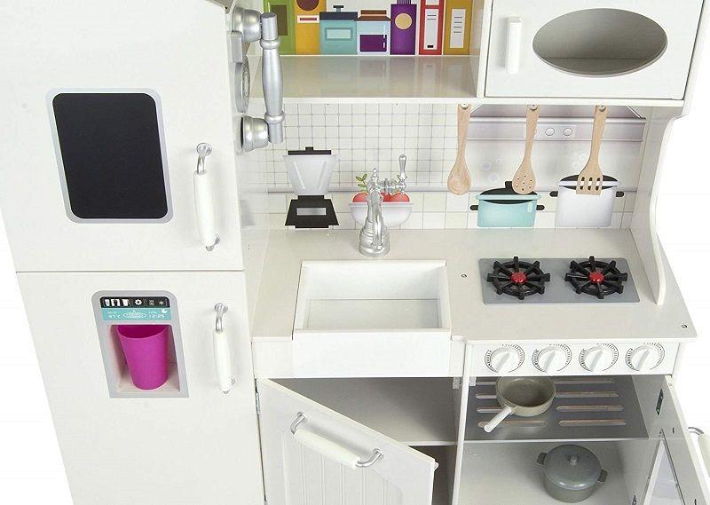 cocinita blanca jueguete para niños y niñas